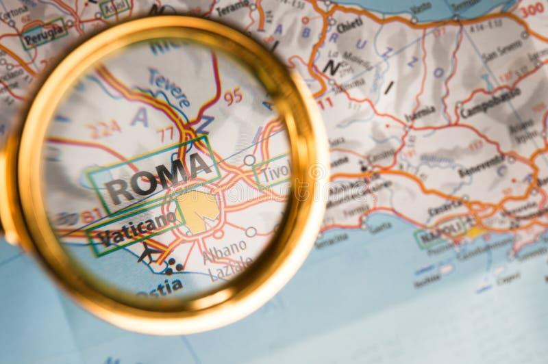 Rom auf einer Karte lizenzfreie stockbilder