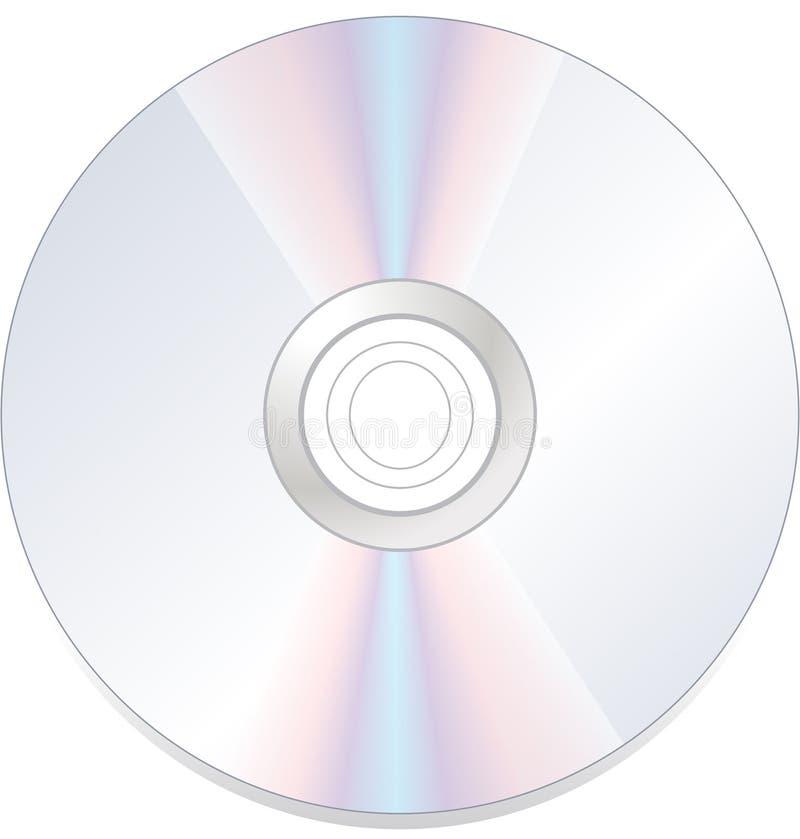 ROM cd do dvd do disco isolada ilustração stock