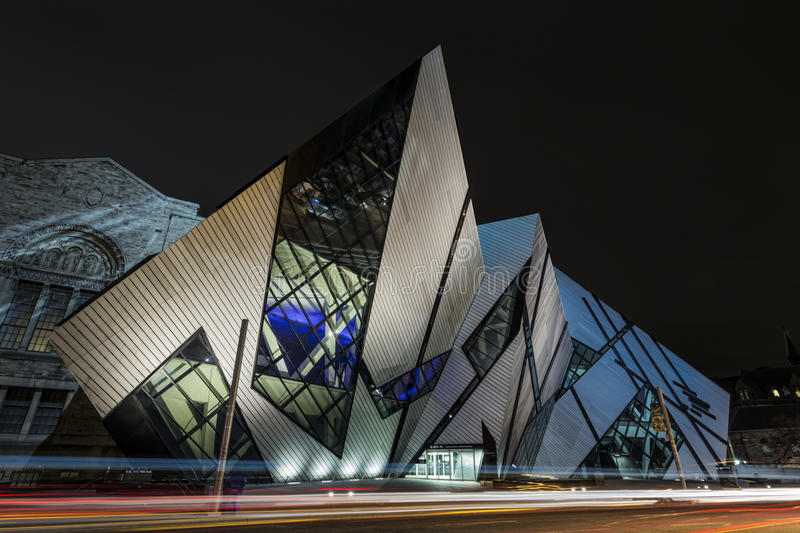 ROM Crystal. The famous and amazing Crystal at the ROM royalty free stock photo