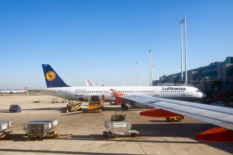 Rom-Flughafen lizenzfreies stockbild