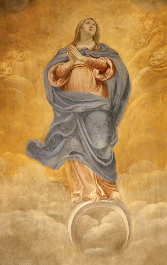 Rom - heiliges Mary-Fresko stockbilder