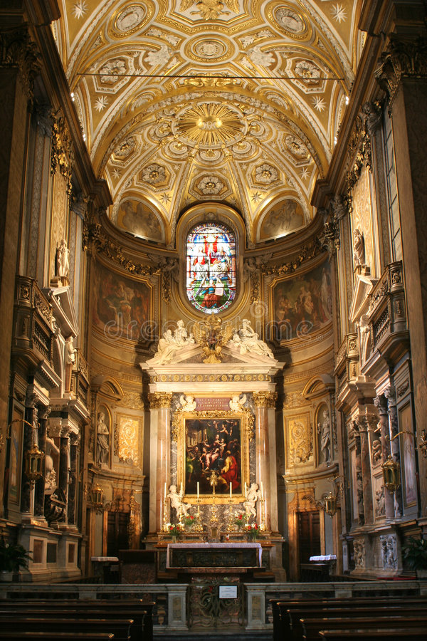Rom - interor des Santa Maria della Schrittes lizenzfreie stockfotografie