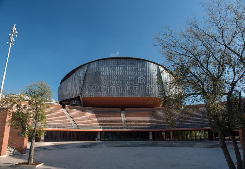 Rom, Italien am 14. April 2017: Auditorium Parco-della Musica-buildin stockfoto