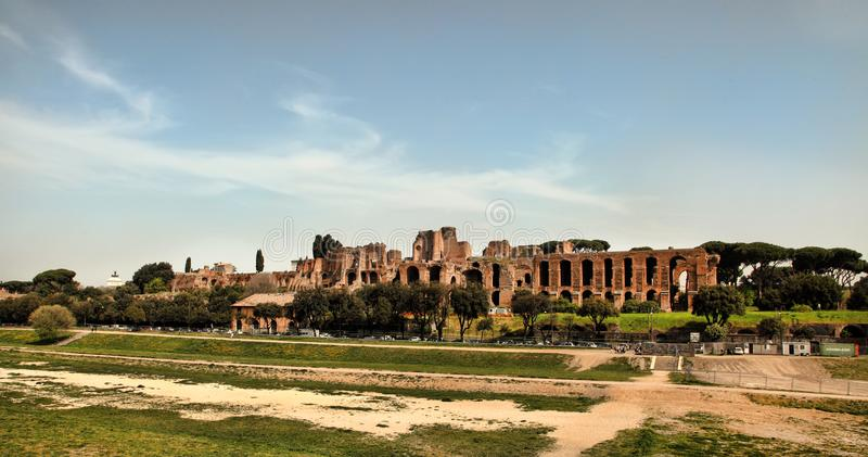 ROM, ITALIEN, AM 7. APRIL 2016: Ruinen des Domus Augustana auf PA stockfotos