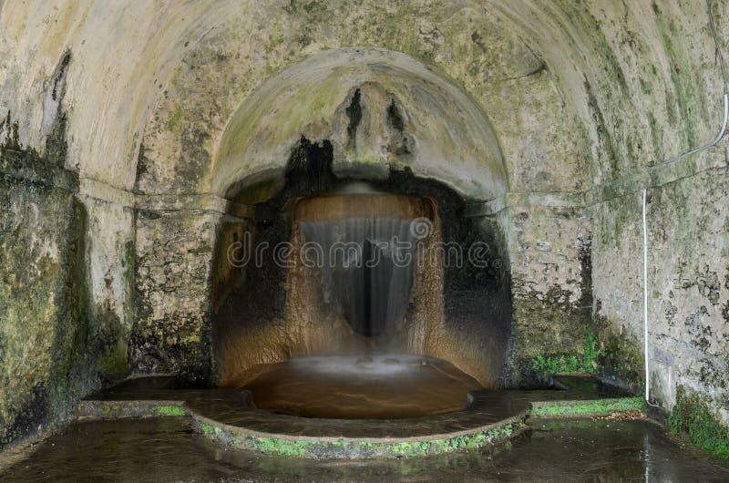 ROM, ITALIEN - AUGUST 2018: Antike historische Brunnen an Landhaus D 'Este in Tivoli, Italien lizenzfreie stockbilder