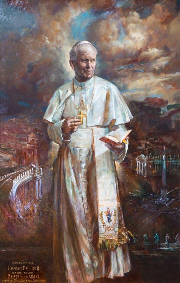 ROM, ITALIEN: Die Farbe von St. John Paul II in den Kirche Basilikadi Santa Maria del Popolo durch Natalia Tsarkova 2006 stockbild