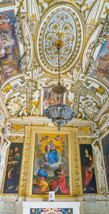 ROM, ITALIEN 10. OKTOBER 2017: Die barocke Art-Kapelle in lizenzfreies stockfoto