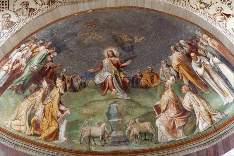 Rom - Jesus das Lehrerfresko lizenzfreie stockfotografie