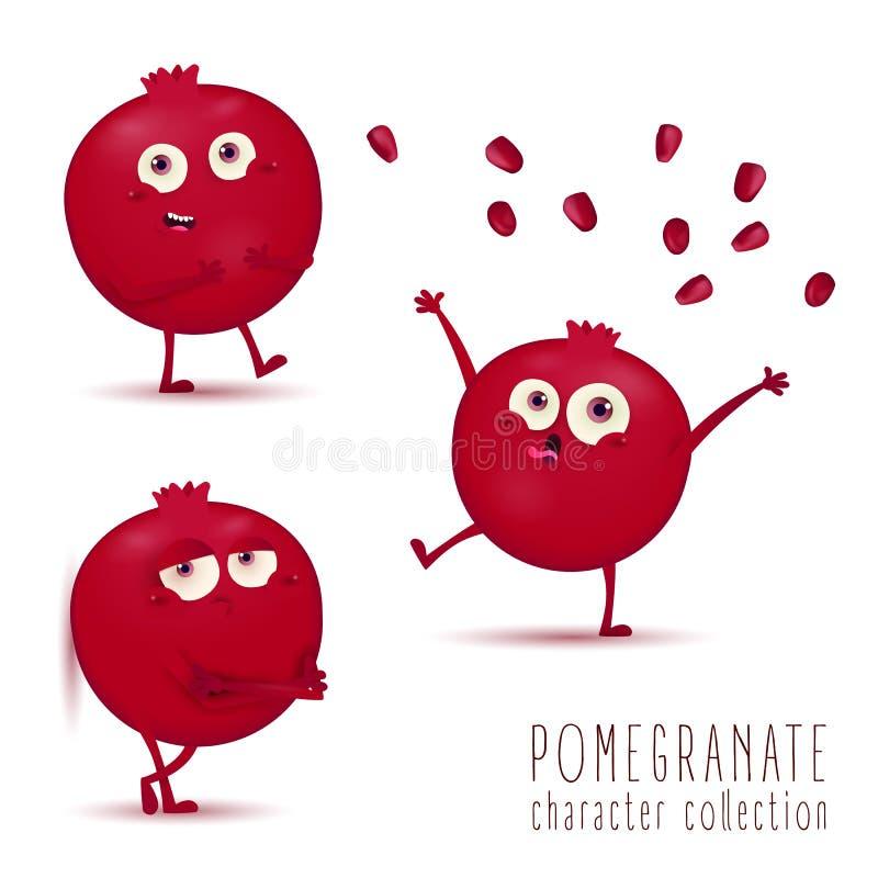 rom? Jogo de caracteres bonito do vetor do fruto isolado no fundo branco ilustração do vetor