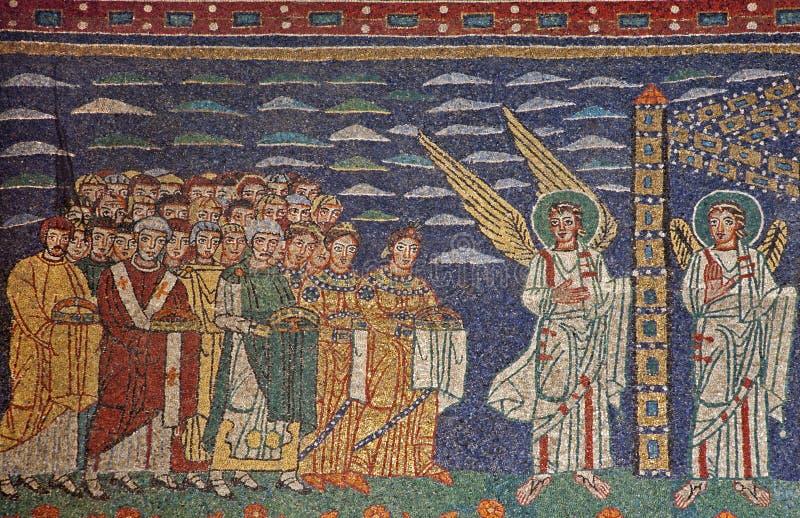 Rom - Mosaik Santa Maria in Trastevere stockfotos
