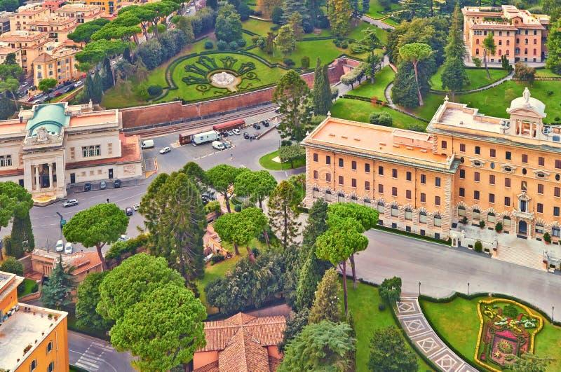 Rom-Panoramageb?udeabend Rom-Dachspitzenansicht mit alter Architektur in Italien lizenzfreie stockfotos