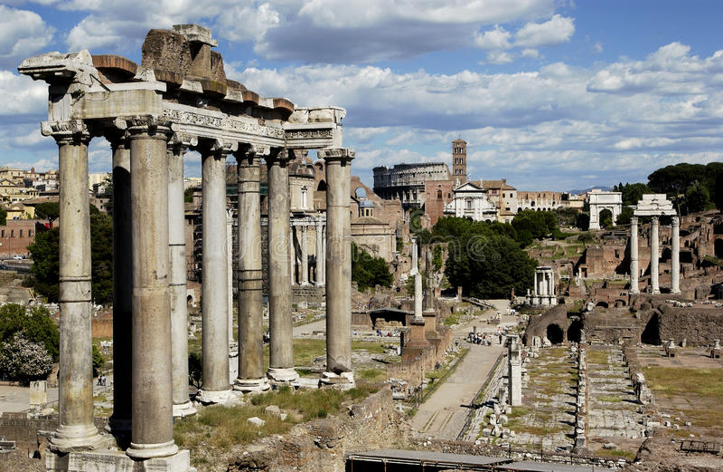 Rom - römisches Forum - Italien lizenzfreies stockfoto