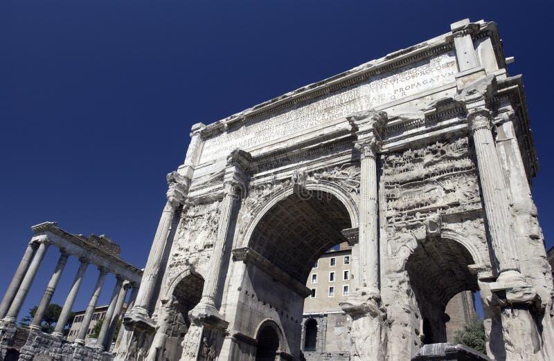 Rom - römisches Forum - Italien lizenzfreie stockfotos