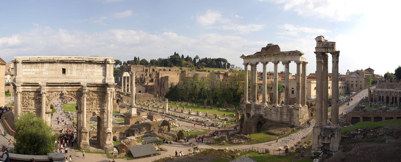 Rom ruines Panorama stockbilder