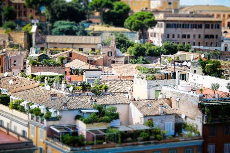 Romańscy dachowi ogródy zdjęcie royalty free