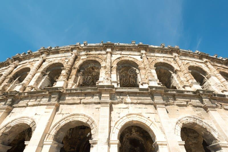 Romańska arena Nimes obrazy royalty free