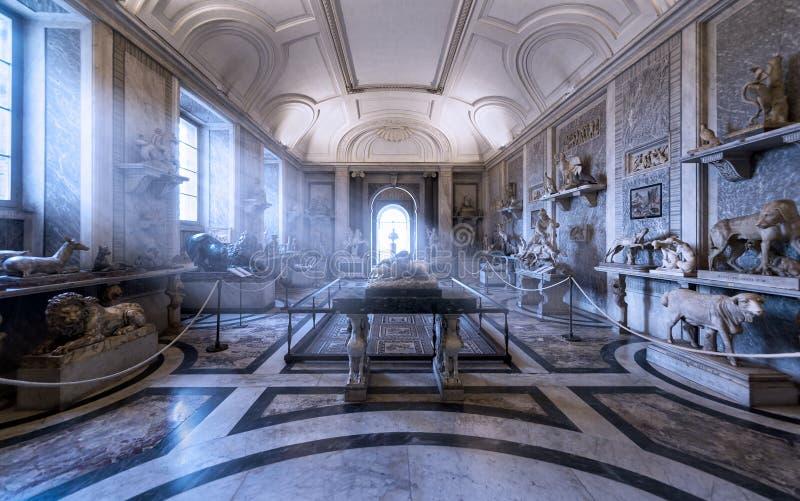 Romańska dawność w Watykańskich muzeach w Rzym zdjęcie royalty free