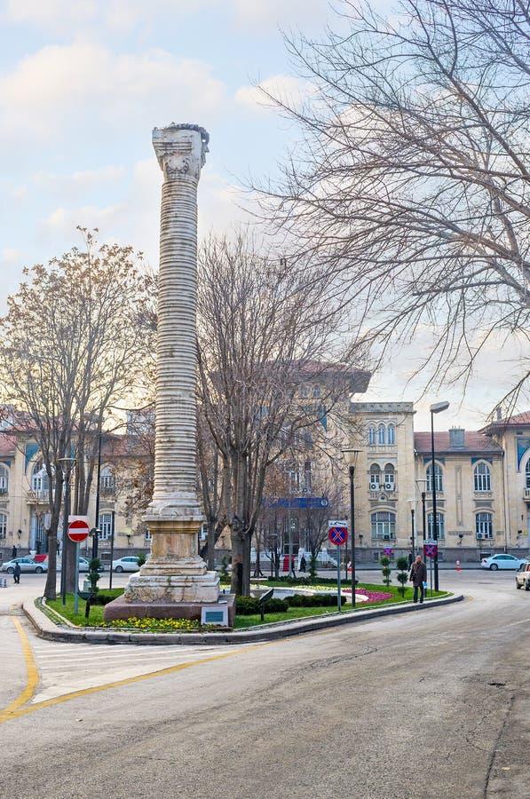 Romańska kolumna w Ankara obraz stock