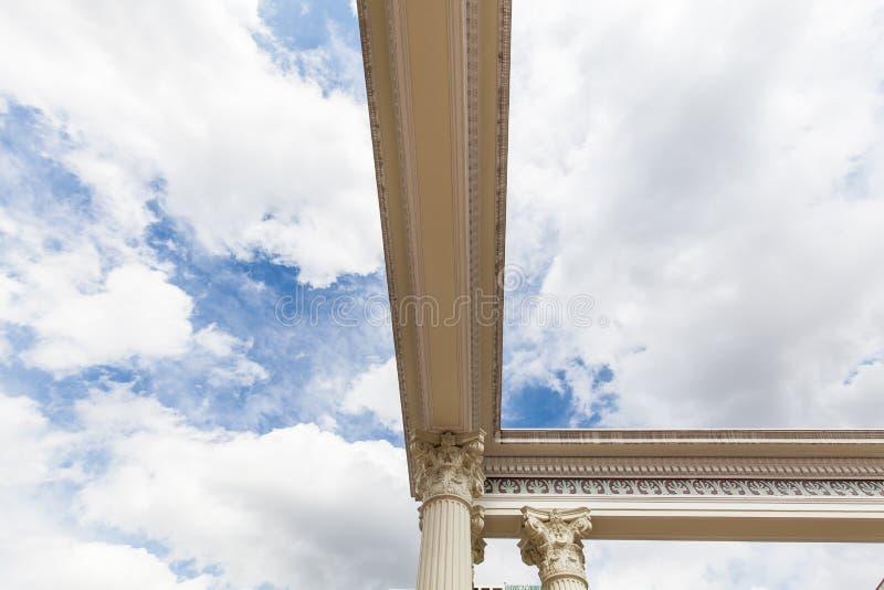 Romańska kolumny głowa obrazy stock