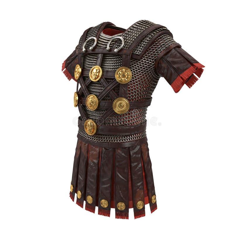 Romańska opancerzenia 3d ilustracja ilustracja wektor