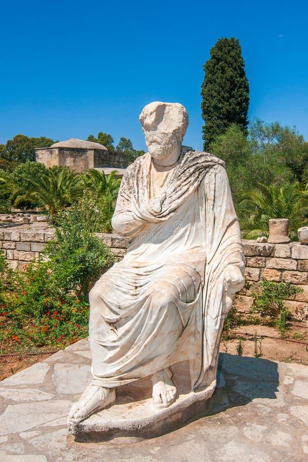 Romańska statua Gortys, archeologiczny miejsce na Crete obraz royalty free