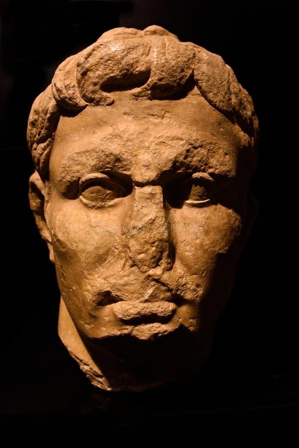Romańska statua Romańskie ruiny antyczny rzymianin zdjęcie stock