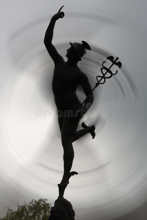 Romańska statuy sylwetka z ruch plamą ilustracji