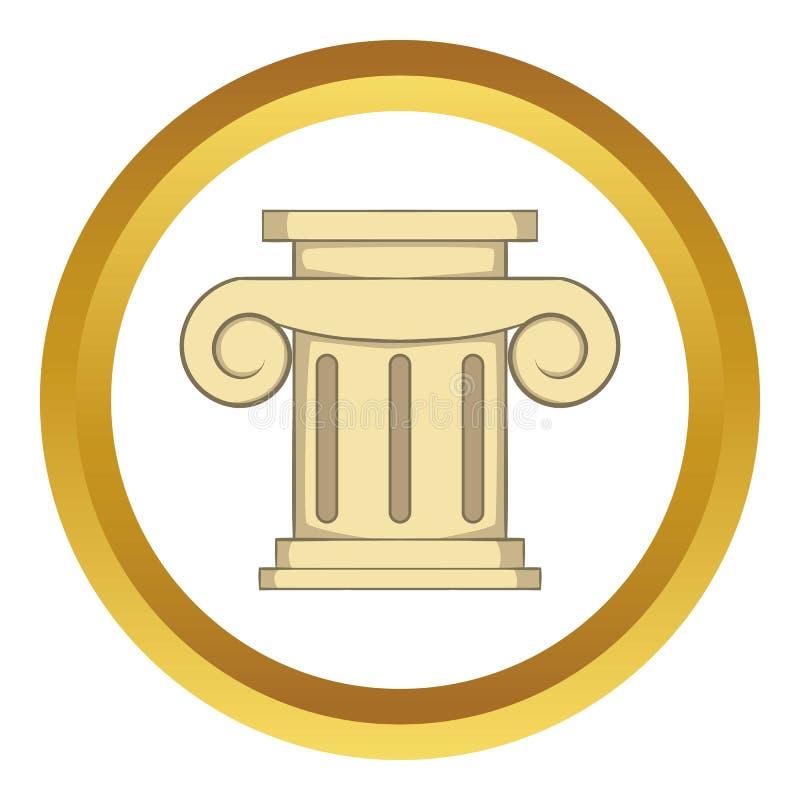Romańska szpaltowa ikona ilustracja wektor