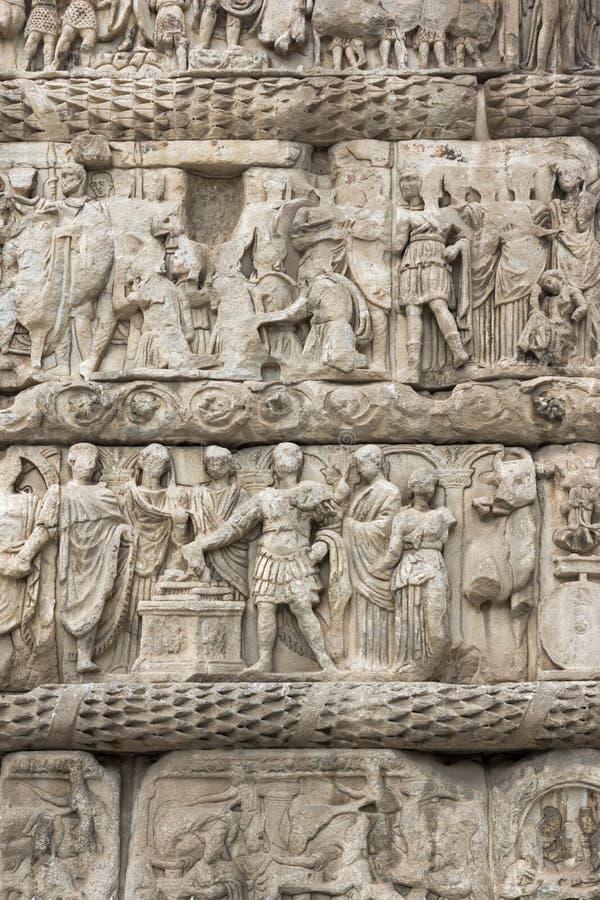 Romański łuk Galerius w centrum miasto Saloniki, Środkowy Macedonia, Grecja zdjęcie stock