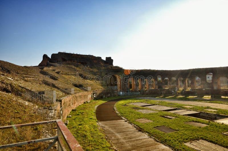 Romański amfiteatr Capua Włochy obraz royalty free