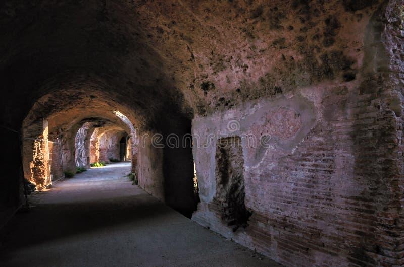 Romański amfiteatr Capua Włochy zdjęcia royalty free
