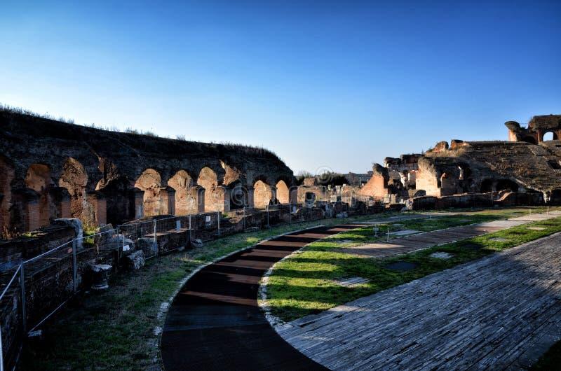 Romański amfiteatr Capua Włochy obrazy royalty free