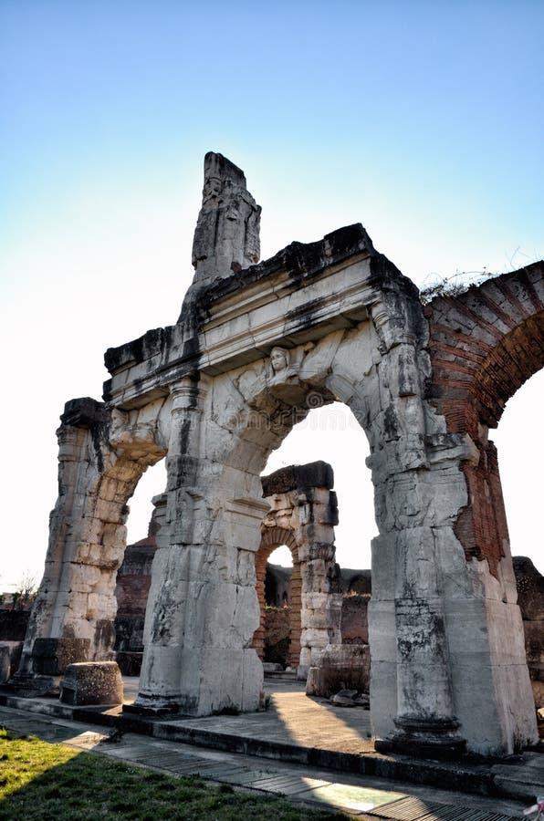 Romański amfiteatr Capua Włochy obrazy stock