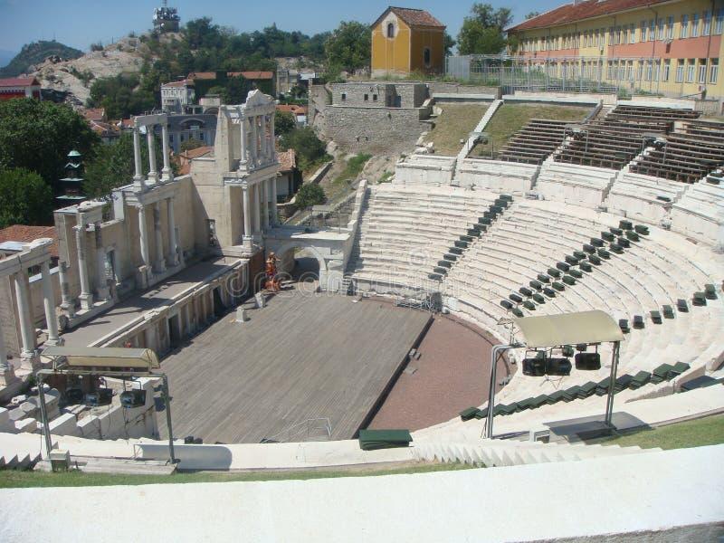 Romański amfiteatr Plovdiv w Bułgaria obraz royalty free