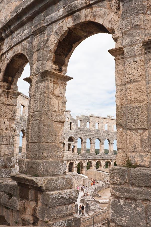 Romański amphitheate. Pula, Chorwacja obrazy stock