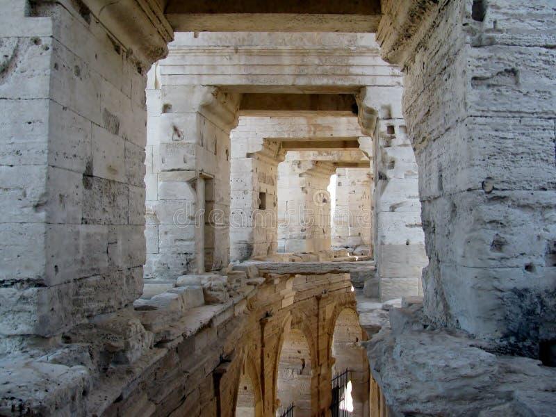 Romański Arena/amfiteatr w Arles, Provence, Francja obraz stock