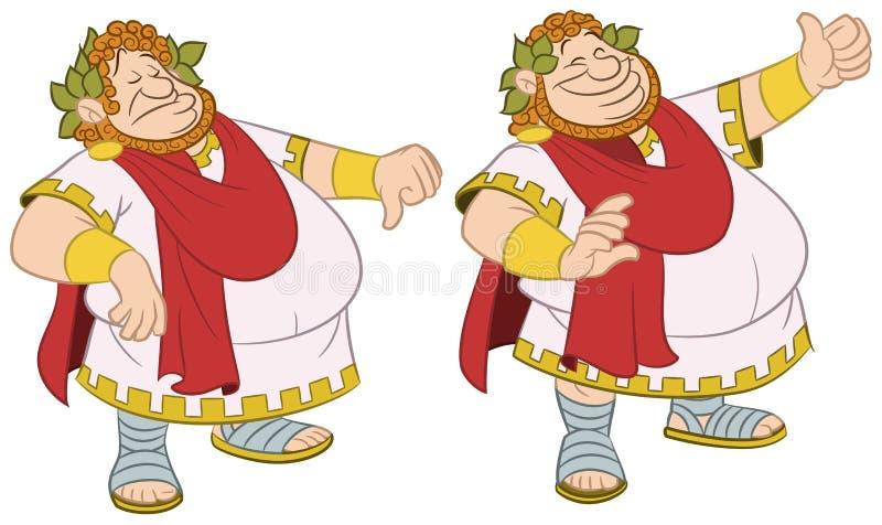 Romański cesarz ilustracja wektor