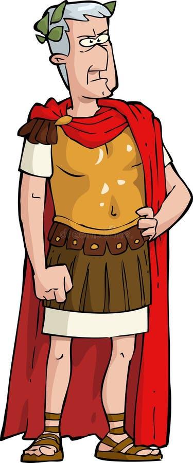 Romański cesarz royalty ilustracja