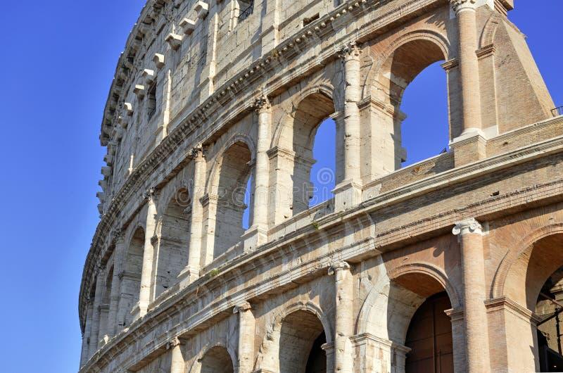 Romański Colosseum, miejsce dokąd gladiatorzy walczący as well as być miejscem wydarzenia dla jawnej rozrywki, Rzym obraz stock