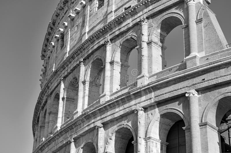 Romański Colosseum, miejsce dokąd gladiatorzy walczący as well as być miejscem wydarzenia dla jawnej rozrywki, Rzym zdjęcia royalty free