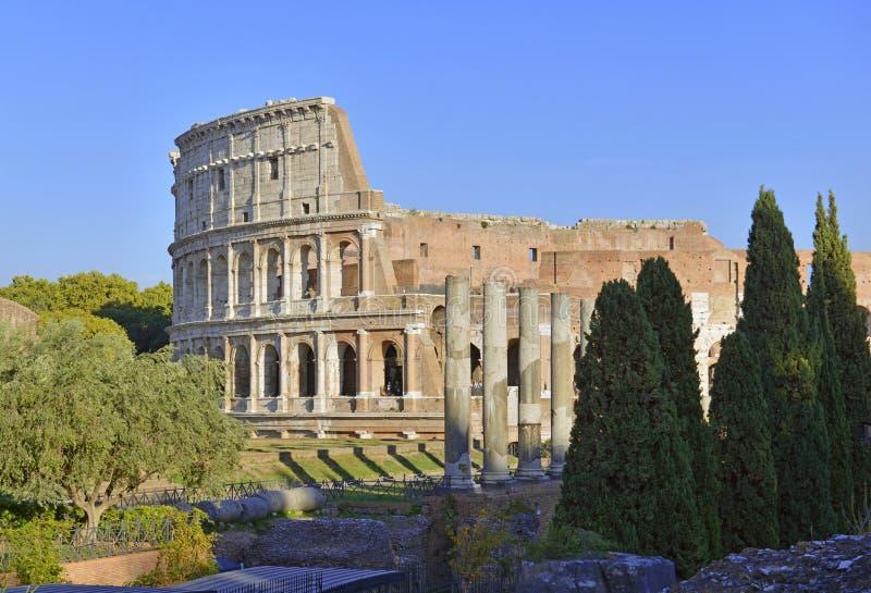 Romański Colosseum, miejsce dokąd gladiatorzy walczący as well as być miejscem wydarzenia dla jawnej rozrywki, Rzym fotografia royalty free