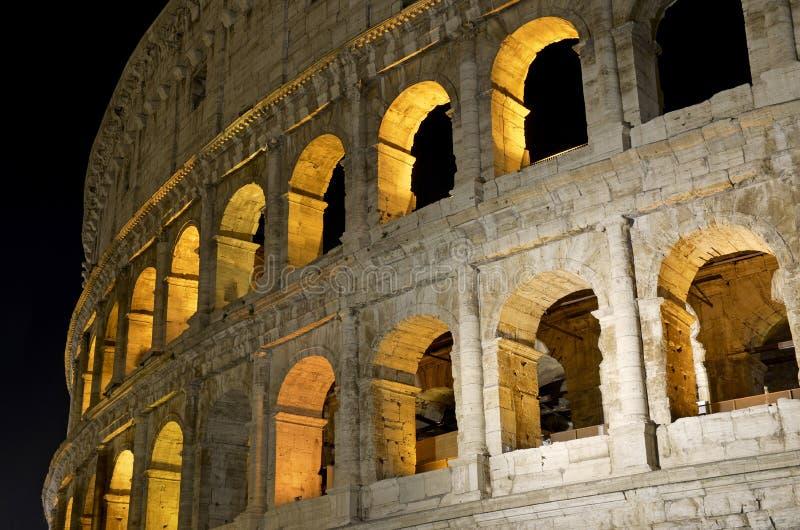 Romański Colosseum, miejsce dokąd gladiatorzy walczący as well as być miejscem wydarzenia dla jawnej rozrywki, Rzym zdjęcia stock