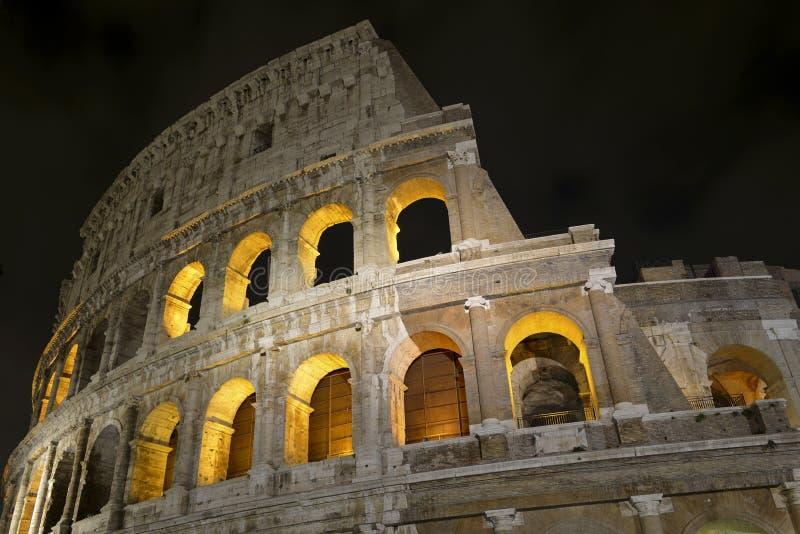 Romański Colosseum, miejsce dokąd gladiatorzy walczący as well as być miejscem wydarzenia dla jawnej rozrywki, Rzym zdjęcie stock