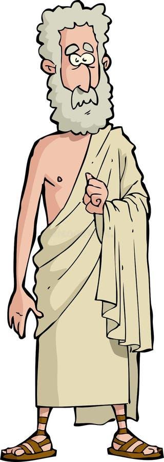 Romański filozof ilustracja wektor