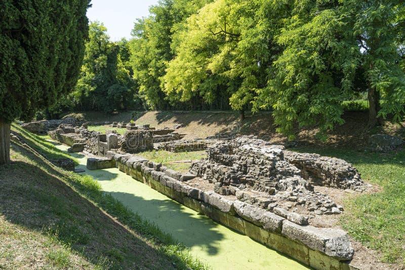 Romański fluvial port w Aquileia fotografia stock