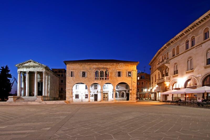 Romański Forum, kwadrat w Pula obrazy stock