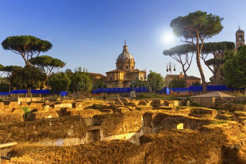 Romański forum, Roma, Włochy zdjęcia stock