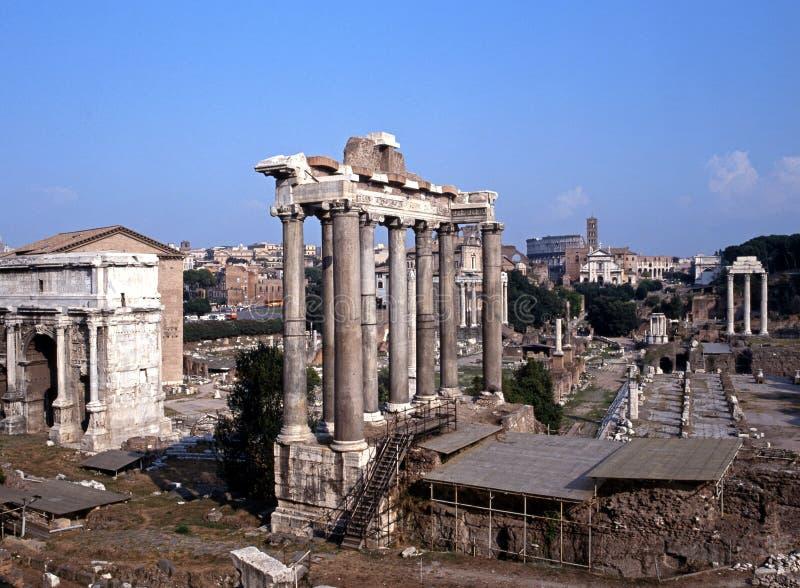 Romański Forum, Rzym, Włochy. fotografia royalty free