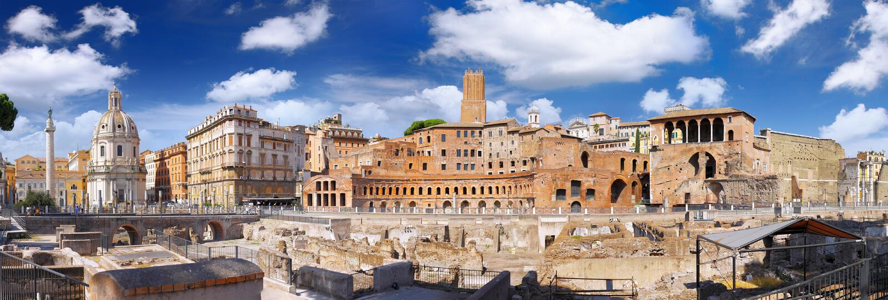 Romański forum w Rzym, Włochy. obrazy stock