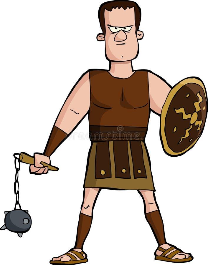 Romański gladiator ilustracji